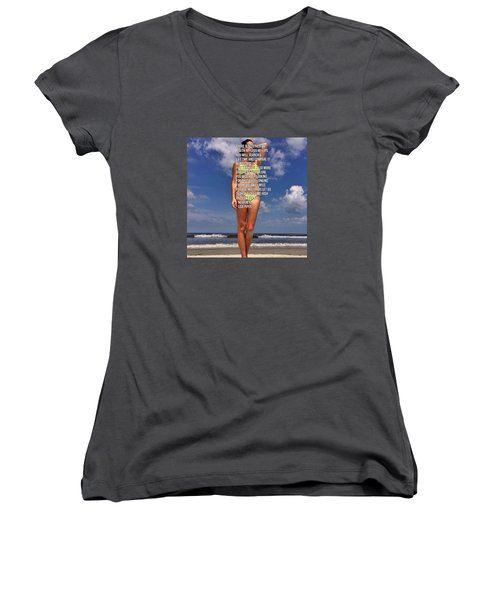No Other Women's V-Neck T-Shirt (Junior Cut) by Lisa Piper