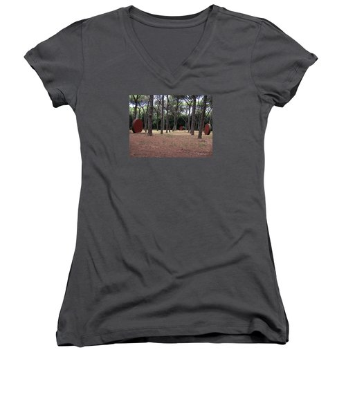 No Title... Women's V-Neck T-Shirt (Junior Cut) by Edgar Torres