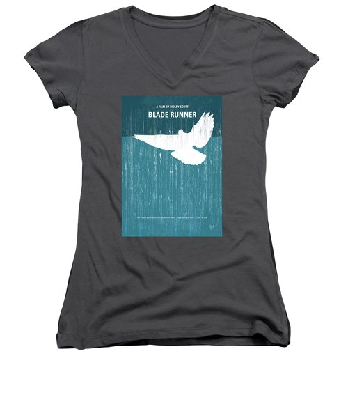 No011 My Blade Runner Minimal Movie Poster Women's V-Neck