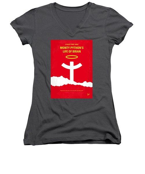 No182 My Monty Python Life Of Brian Minimal Movie Poster Women's V-Neck T-Shirt