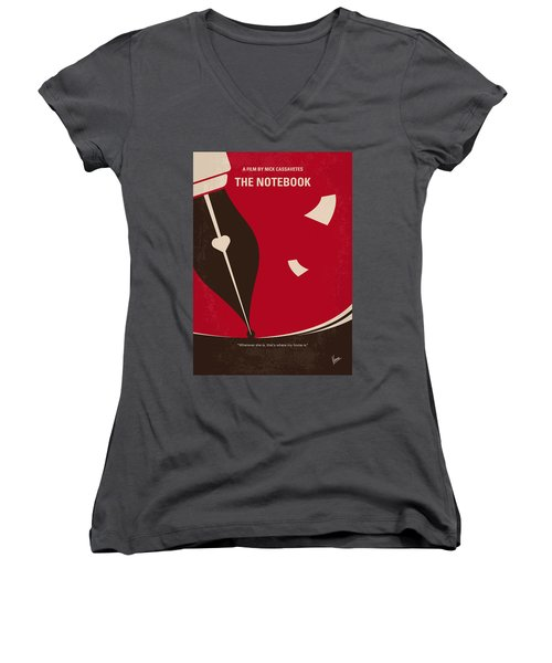 No440 My The Notebook Minimal Movie Poster Women's V-Neck (Athletic Fit)