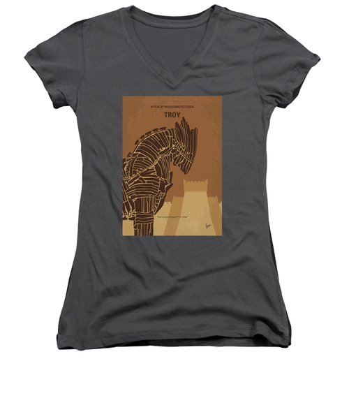 No862 My Troy Minimal Movie Poster Women's V-Neck T-Shirt