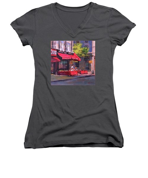 Noon Refreshments Women's V-Neck (Athletic Fit)