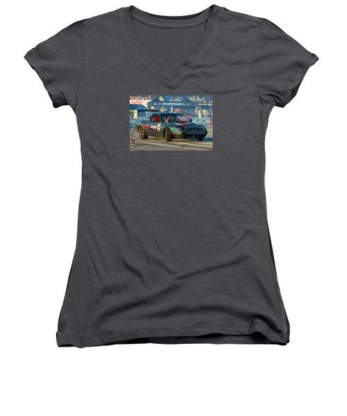 Nopi Drift 2 Women's V-Neck T-Shirt (Junior Cut) by Michael Sussman