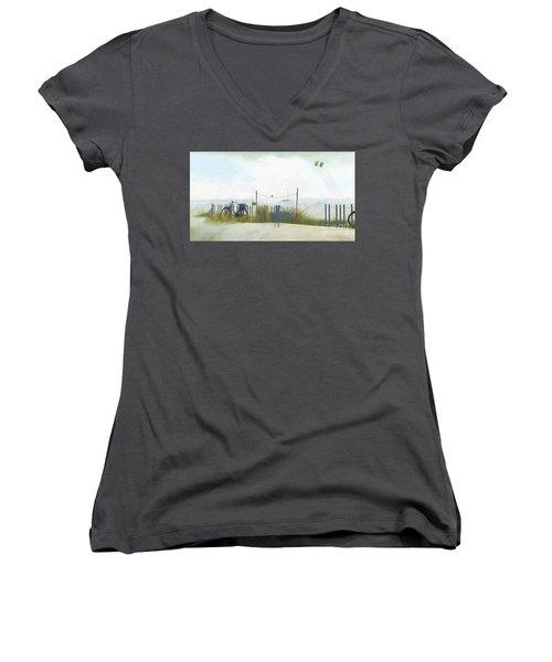Noredney 1 Women's V-Neck T-Shirt