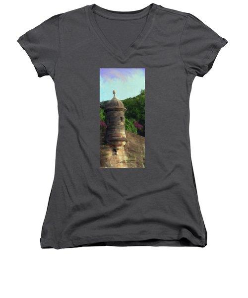 Norma's Pr Tower Women's V-Neck T-Shirt