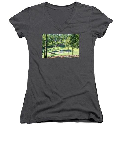 North Carolina Golf Course 12th Hole Women's V-Neck