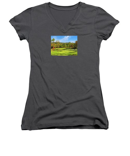 North Carolina Golf Course 14th Hole Women's V-Neck