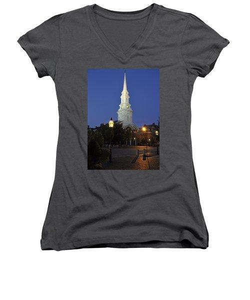 North Church Ncp Women's V-Neck T-Shirt (Junior Cut)