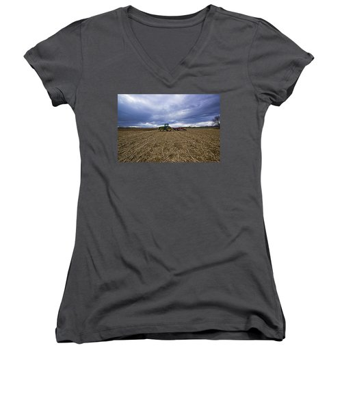 North Fork Tractor Women's V-Neck T-Shirt