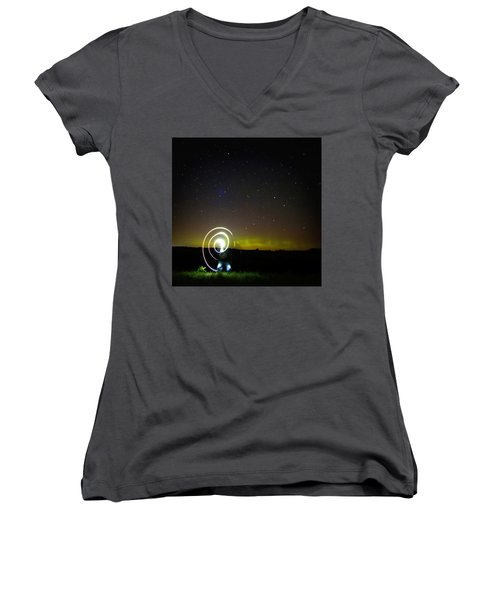 023 - Night Writing Women's V-Neck
