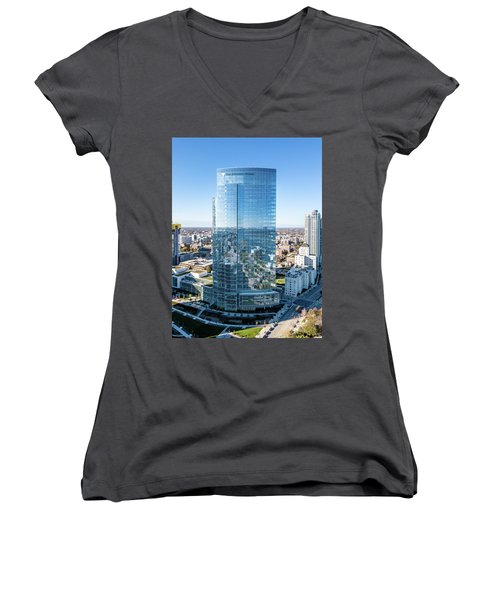 Northwestern Mutual Tower Women's V-Neck (Athletic Fit)