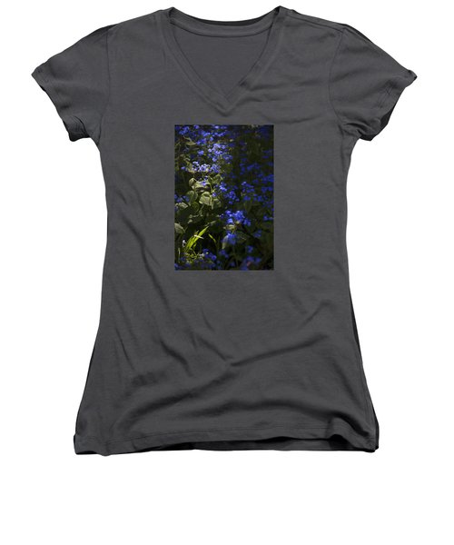 Not A Chance Of Forgetting Women's V-Neck T-Shirt (Junior Cut) by Morris  McClung