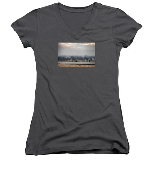 Not Clouds Women's V-Neck (Athletic Fit)