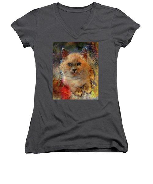 Notorious Rdk Women's V-Neck T-Shirt (Junior Cut) by John Robert Beck