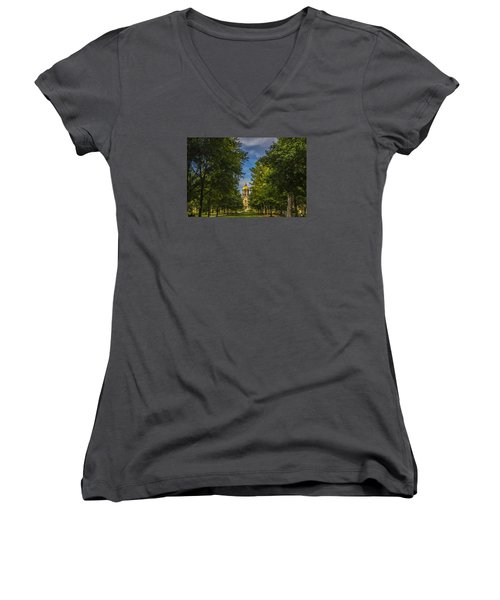 Notre Dame University 2 Women's V-Neck T-Shirt