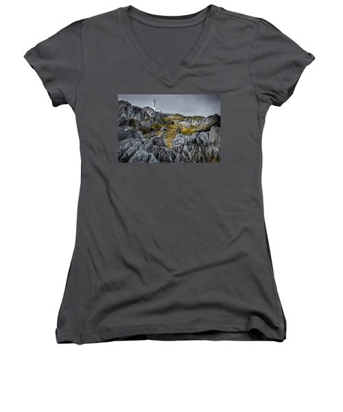 Nova Scotia's Rocky Shore Women's V-Neck