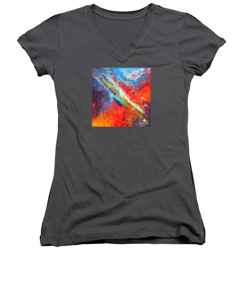 Fantasies In Space Series Painting. Nova Sonata Women's V-Neck (Athletic Fit)