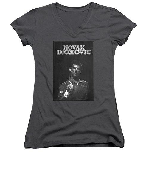 Novak Djokovic Women's V-Neck T-Shirt