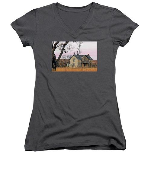 November Remnant Women's V-Neck T-Shirt (Junior Cut) by Christopher McKenzie