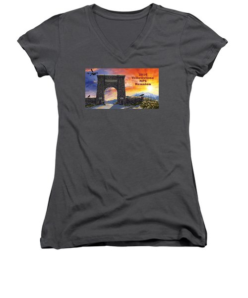 Nps Reunion Women's V-Neck T-Shirt