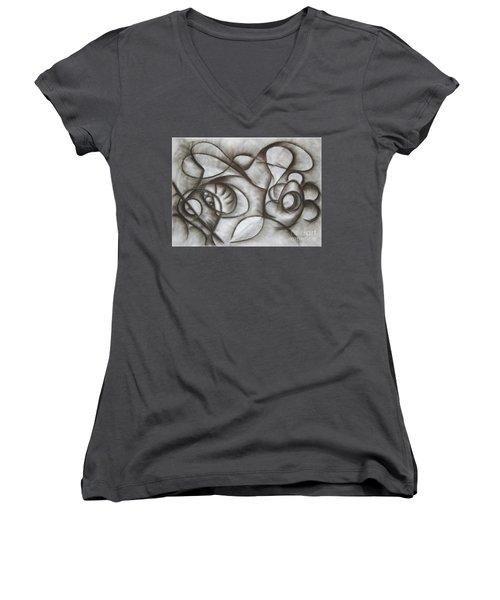 Nucleus Of Time Women's V-Neck T-Shirt