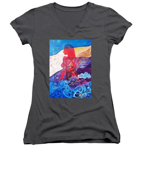 Nude Inner Dream Women's V-Neck T-Shirt