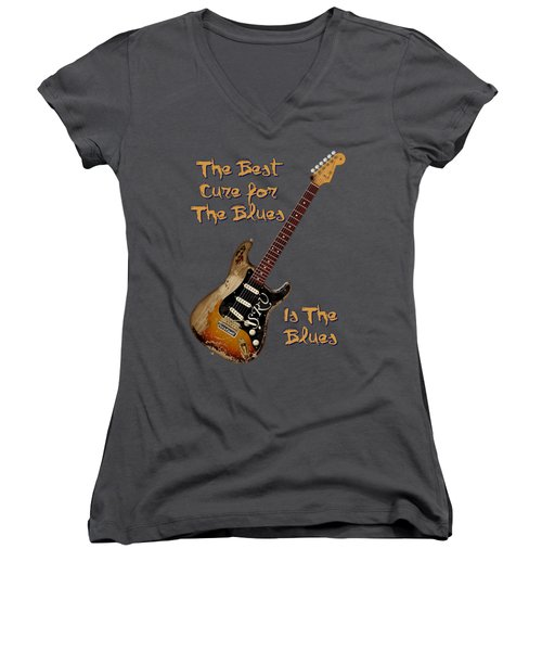 Number One Cure Shirt Women's V-Neck (Athletic Fit)