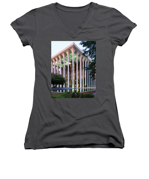 Nwnl Building At Dusk Women's V-Neck