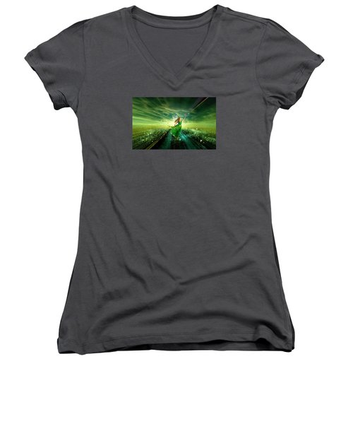 Nymph Of July Women's V-Neck (Athletic Fit)