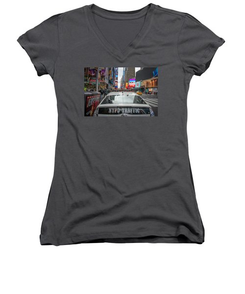 Nypd Women's V-Neck (Athletic Fit)