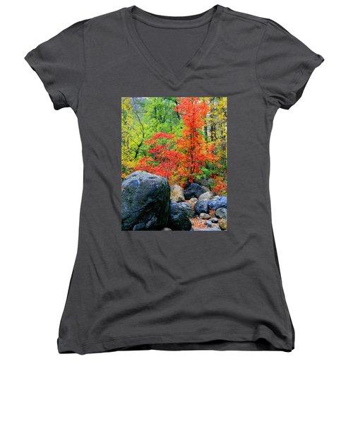 Oak Creek Canyon Red Women's V-Neck T-Shirt