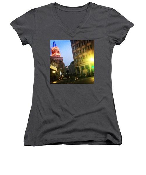 Oakland Lights Women's V-Neck T-Shirt