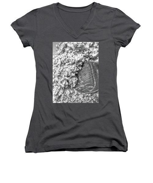 Women's V-Neck featuring the photograph Oatmeal by Robert Knight