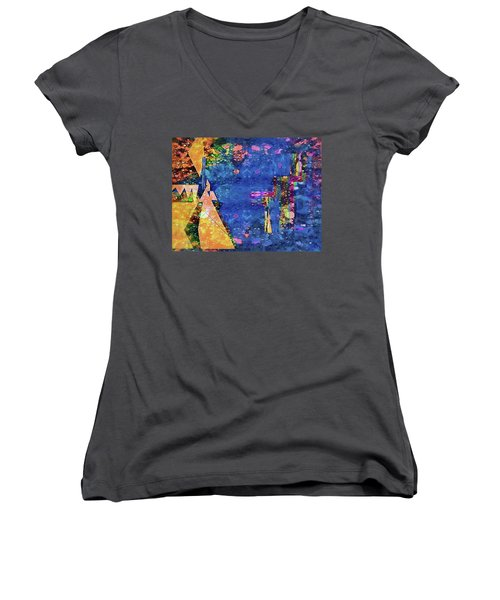 Objective Reality Women's V-Neck (Athletic Fit)