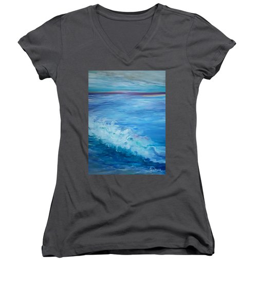 Ocean Blue Women's V-Neck (Athletic Fit)