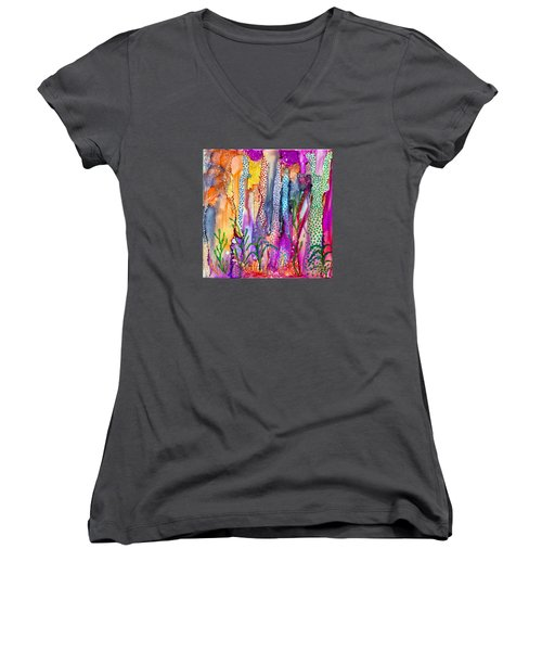 Ocean Floor Women's V-Neck (Athletic Fit)