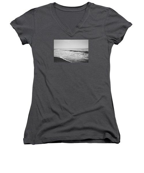 Ocean Patterns Women's V-Neck T-Shirt (Junior Cut) by Scott Meyer