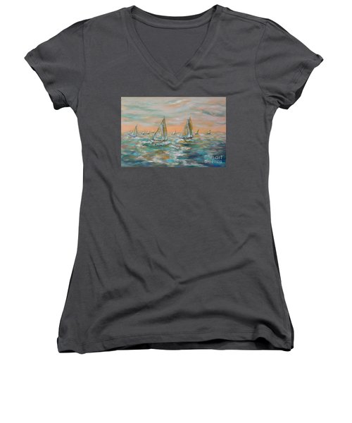 Ocean Regatta Women's V-Neck T-Shirt