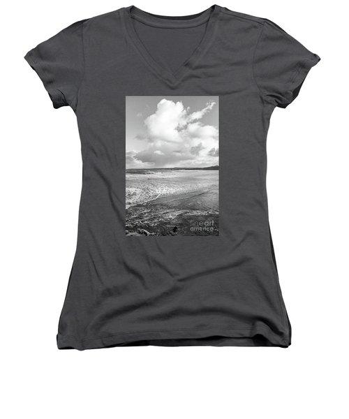 Ocean Texture Study Women's V-Neck T-Shirt (Junior Cut) by Nicholas Burningham