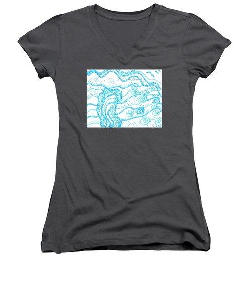 Ocean Waves Women's V-Neck
