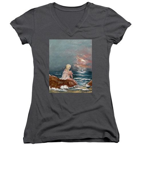 Oceanic Relaxation Women's V-Neck (Athletic Fit)