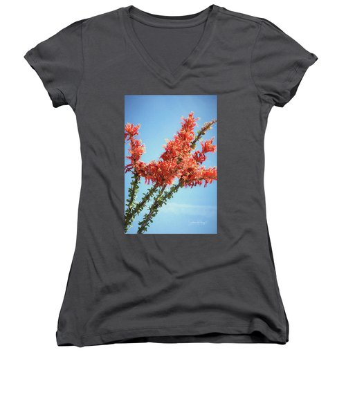 Ocotillo In Bloom Women's V-Neck (Athletic Fit)