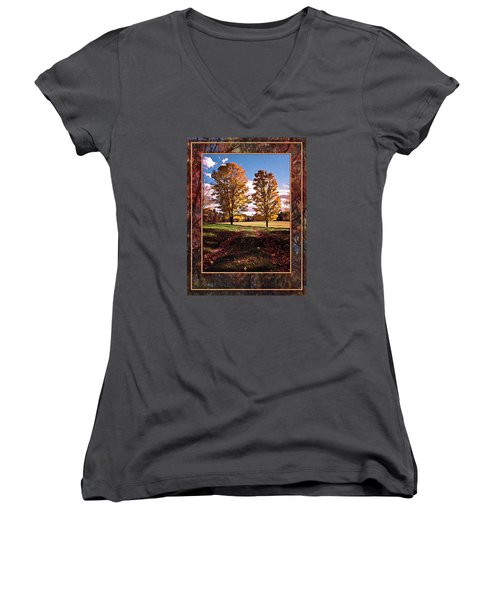 October Afternoon Beauty Women's V-Neck T-Shirt