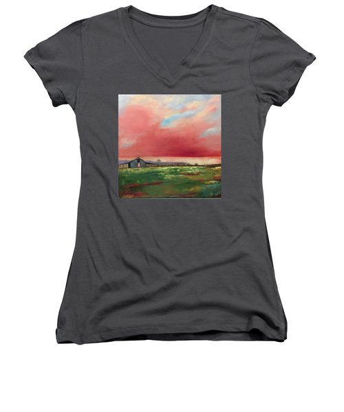 Off Highway 27 Women's V-Neck (Athletic Fit)