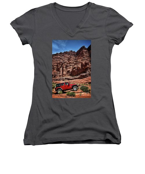 Off Road Adventure Women's V-Neck T-Shirt