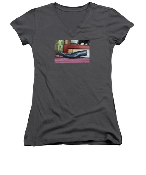 Office Whale Women's V-Neck