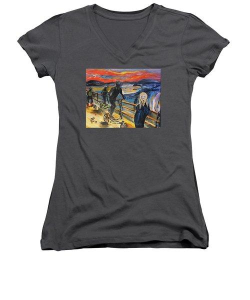 Oh No,elliptigo Women's V-Neck T-Shirt