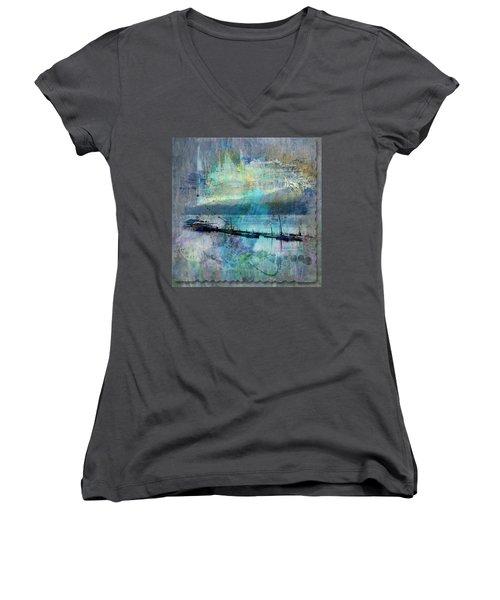 Ohio River Splatter Women's V-Neck T-Shirt