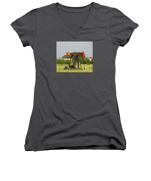 Oil Well Women's V-Neck (Athletic Fit)
